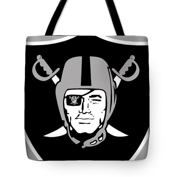 Oakland Raiders Tote Bag by Tony Rubino