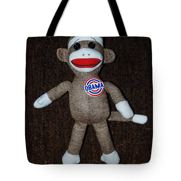 OBAMA SOCK MONKEY Tote Bag by ROB HANS