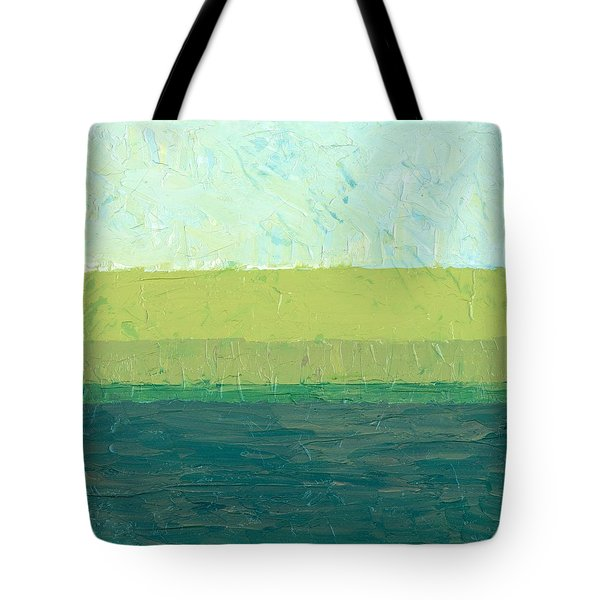 Ocean Blue and Green Tote Bag by Michelle Calkins