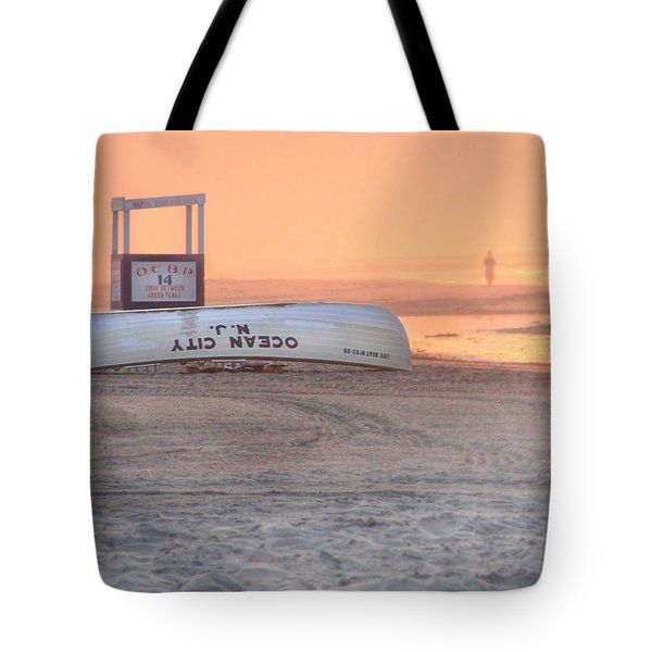 Ocean City Beach Patrol Tote Bag by Lori Deiter