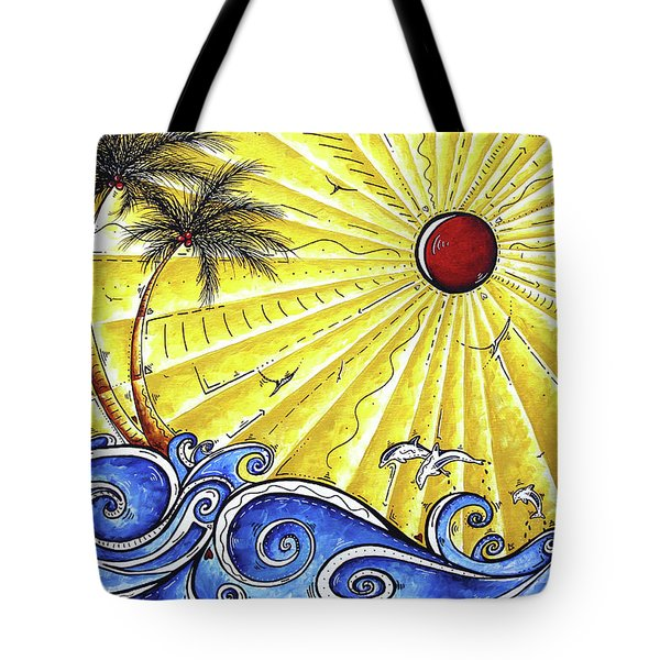 Ocean Fury By Madart Tote Bag by Megan Duncanson