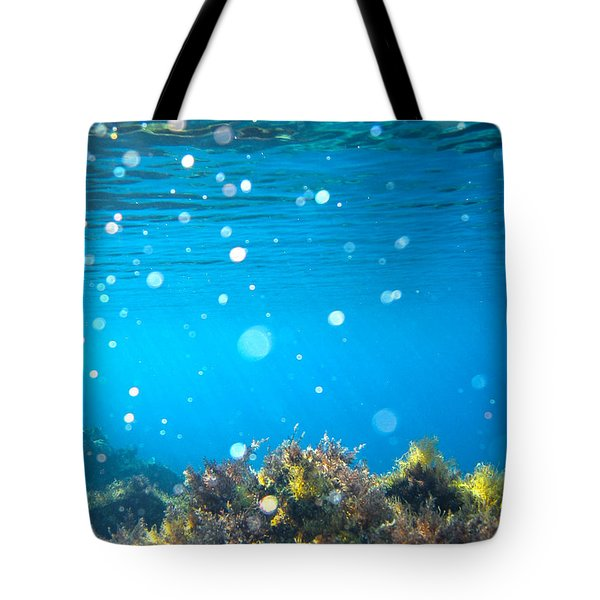 ocean garden Tote Bag by Stylianos Kleanthous