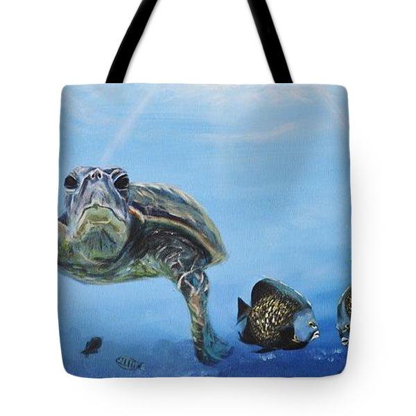 Ocean Life Tote Bag by Donna Tuten