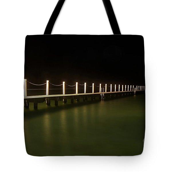 Ocean Pool By Night 2 Tote Bag by Kaye Menner