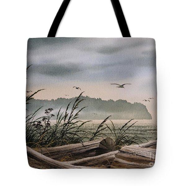 Ocean Shore Tote Bag by James Williamson