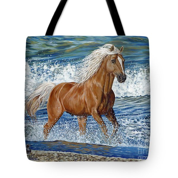 Ocean Stallion Tote Bag by Danielle  Perry