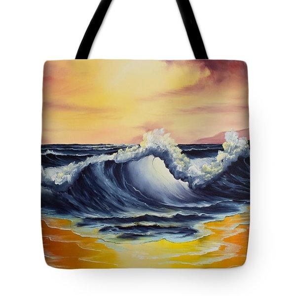Ocean Sunset Tote Bag by C Steele