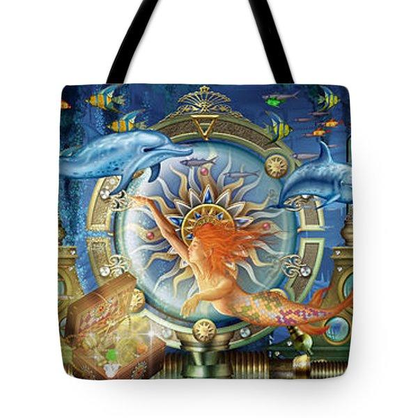 Oceana Triptych Tote Bag by Ciro Marchetti
