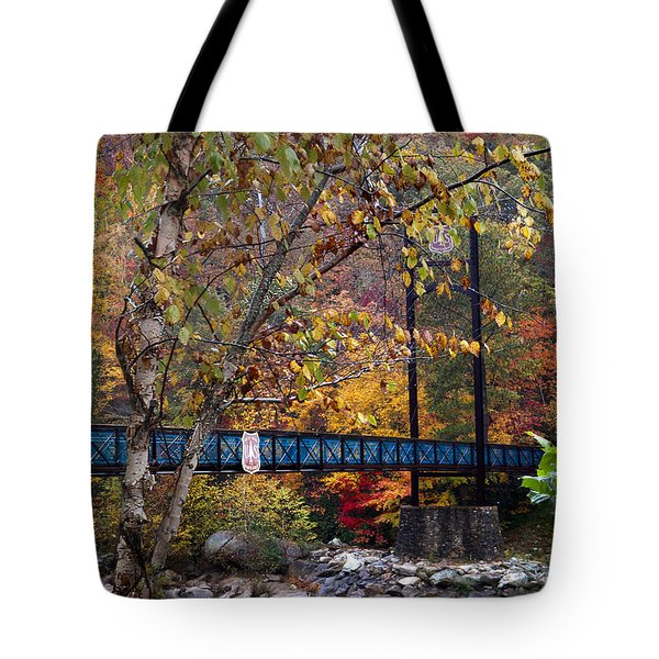 Ocoee River Bridge Tote Bag by Debra and Dave Vanderlaan