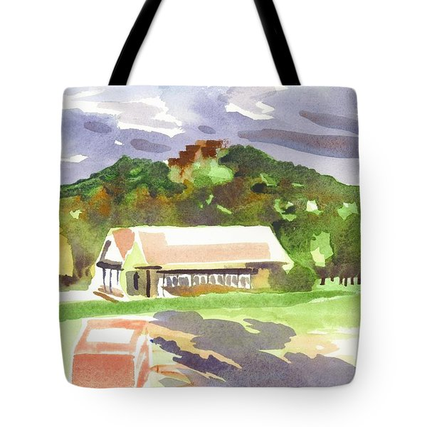 October Shadows at Fort Davidson Tote Bag by Kip DeVore