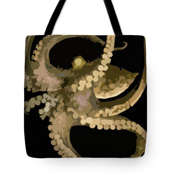 Octopus In Flight Tote Bag by George Pedro