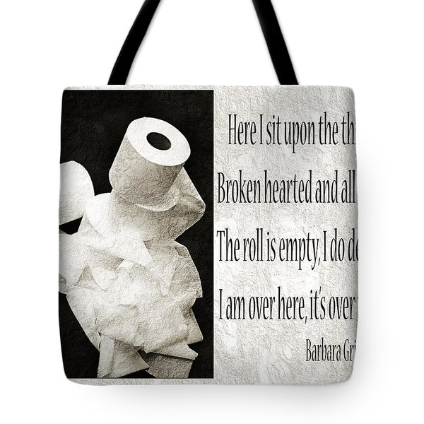 Ode To The Spare Roll BW 2 Tote Bag by Andee Design