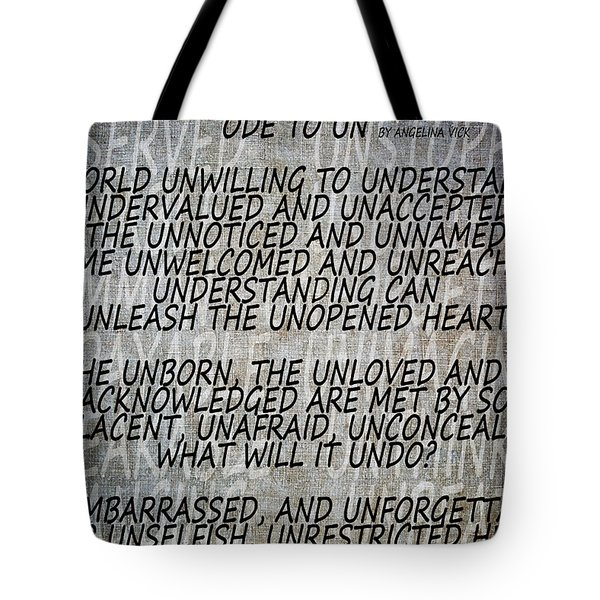 Ode To Un Tote Bag by Angelina Vick