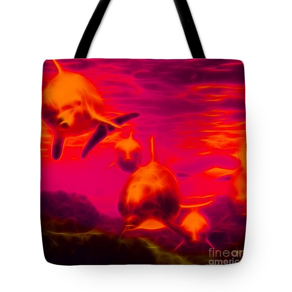 Odyssey v2 - square Tote Bag by Wingsdomain Art and Photography