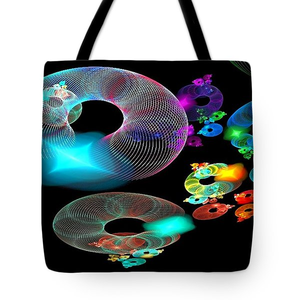 Of Discs And Things Tote Bag by Nancy Pauling