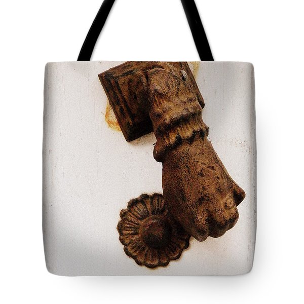 Off It's Knocker Tote Bag by Lainie Wrightson