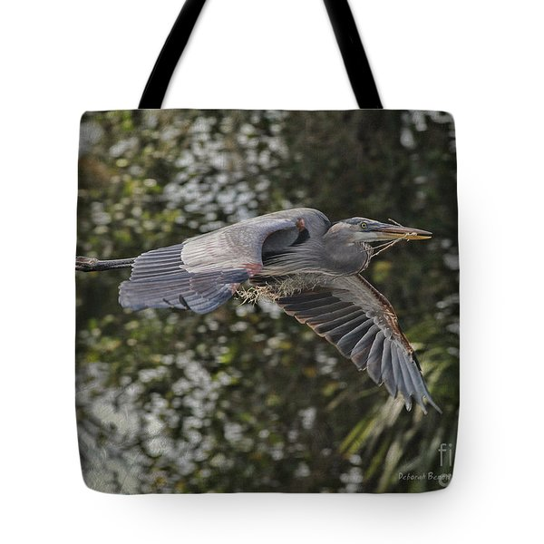 Off To The Nest 2012 Tote Bag by Deborah Benoit