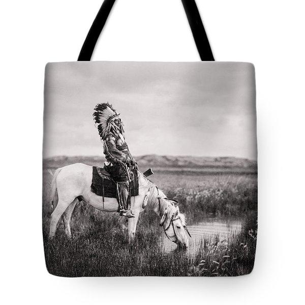 Oglala Indian Man Circa 1905 Tote Bag by Aged Pixel