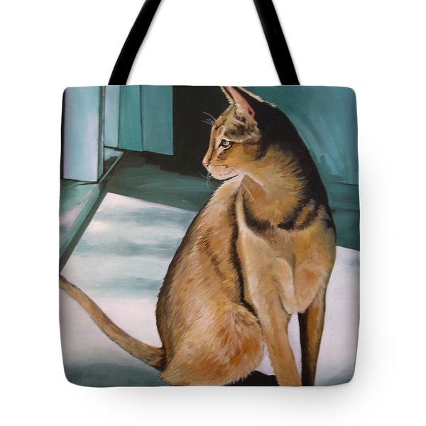 Oh Beautiful House Cat Tote Bag by J Linder