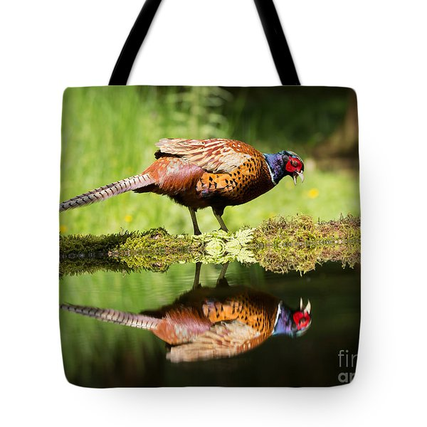 Oh My What A Handsome Pheasant Tote Bag by Louise Heusinkveld