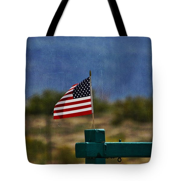 Oh Say Can You See Tote Bag by Janice Rae Pariza
