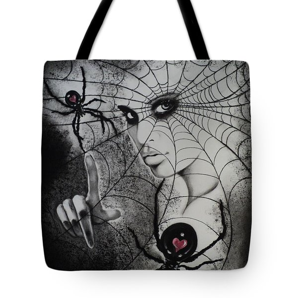 Oh What Tangled Webs We Weave Tote Bag by Carla Carson