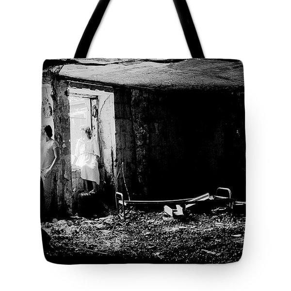 Oheka Castle Basement 1980 Tote Bag by Ed Weidman
