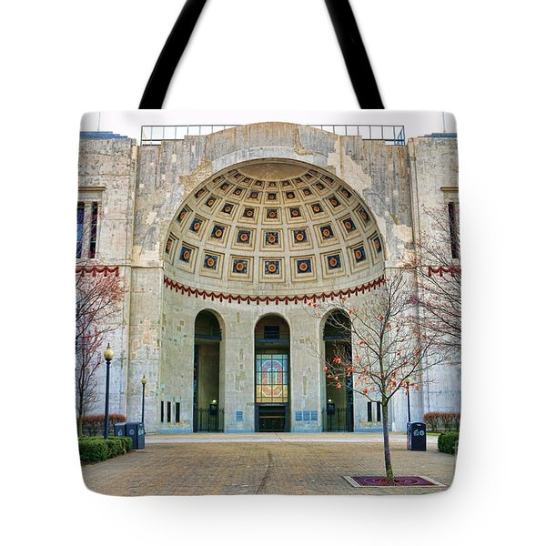 Ohio Stadium Main Entrance 1672 Tote Bag by Jack Schultz