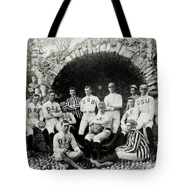 Ohio State Football Circa 1890 Tote Bag by Jon Neidert