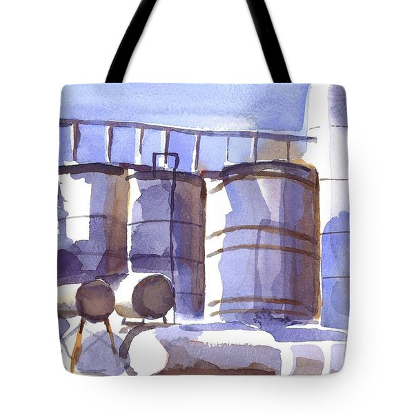 Oil Depot In April Tote Bag by Kip DeVore
