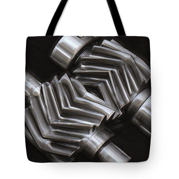 Oil Pump Gears Tote Bag by Daniel Hagerman
