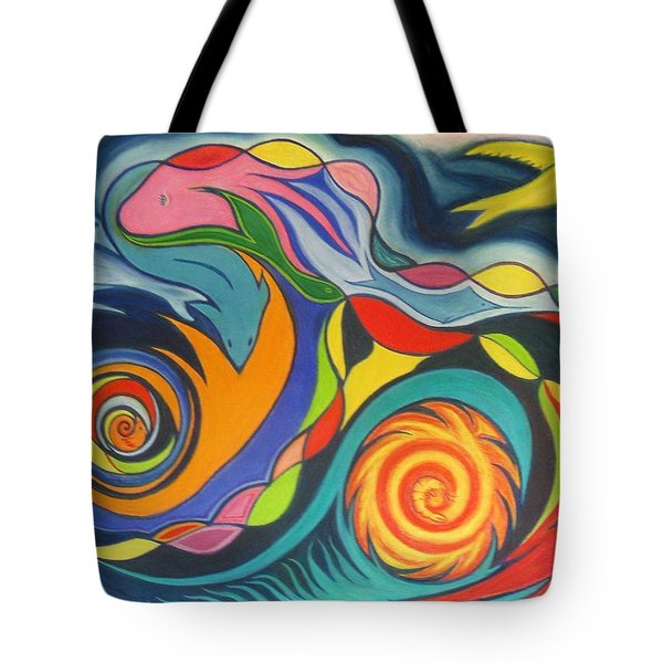 Oil Spill In The Gulf Tote Bag by James Welch