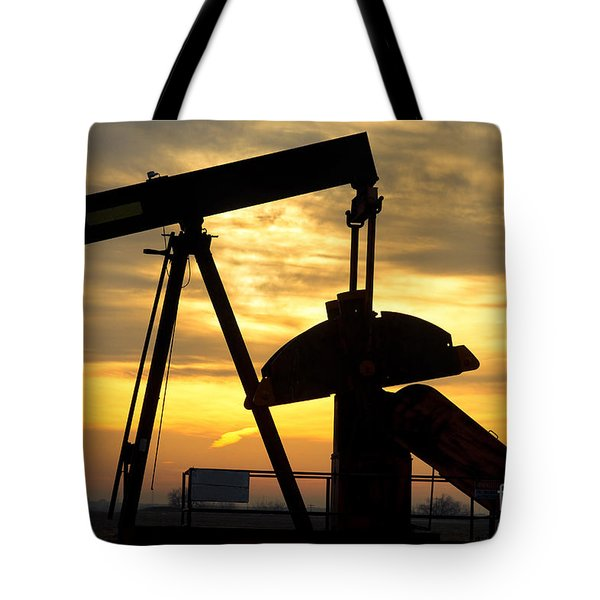 Oil Well Pump Sunrise Tote Bag by James BO  Insogna