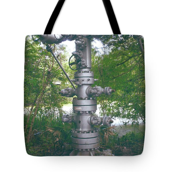 Oilfield Christmas Tree Tote Bag by Joseph Baril