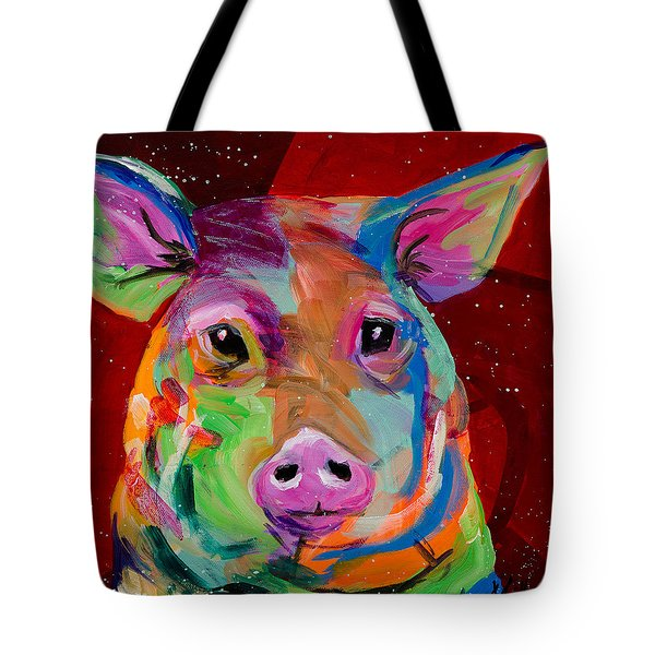 Oink Tote Bag by Tracy Miller