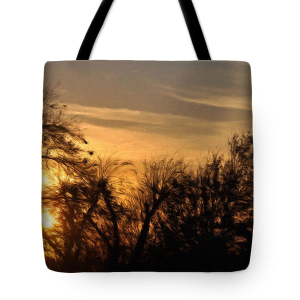 Oklahoma Sunset Tote Bag by Jeff Kolker