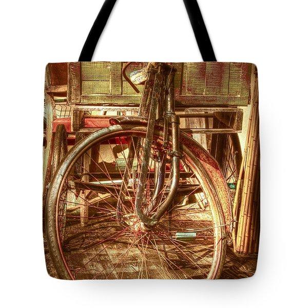 Ol' Rusty Antique Tote Bag by Debra and Dave Vanderlaan