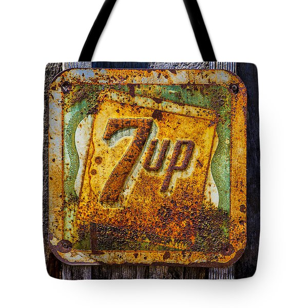 Old 7 Up Sign Tote Bag by Garry Gay
