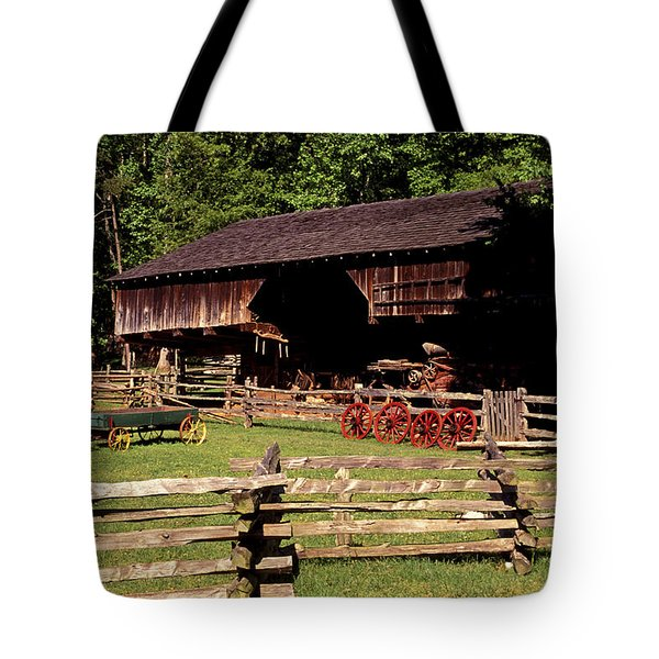 Old Appalachian Farm Cantilevered Barn Tote Bag by Paul W Faust -  Impressions of Light