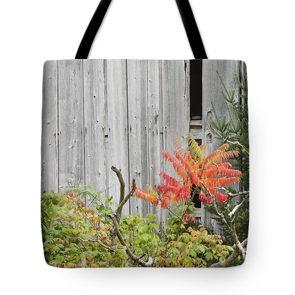 Old Barn in Fall Tote Bag by Keith Webber Jr