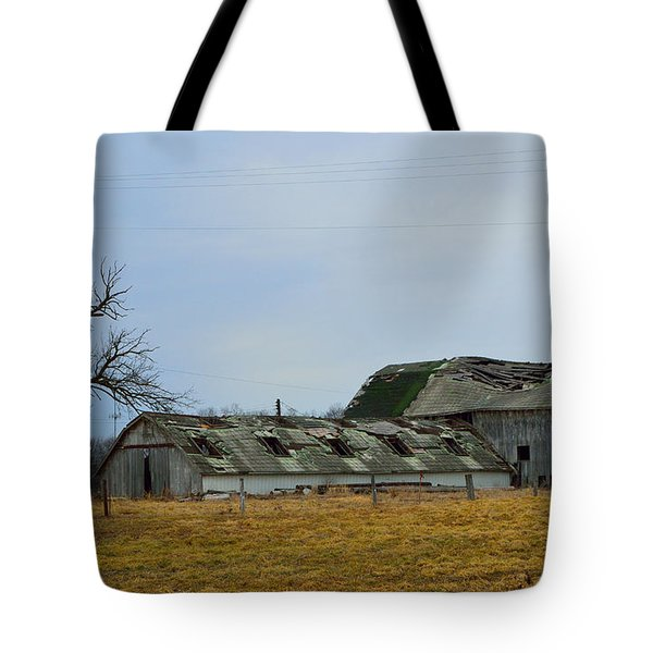 Old Barns In The Heartland Tote Bag by Alys Caviness-Gober