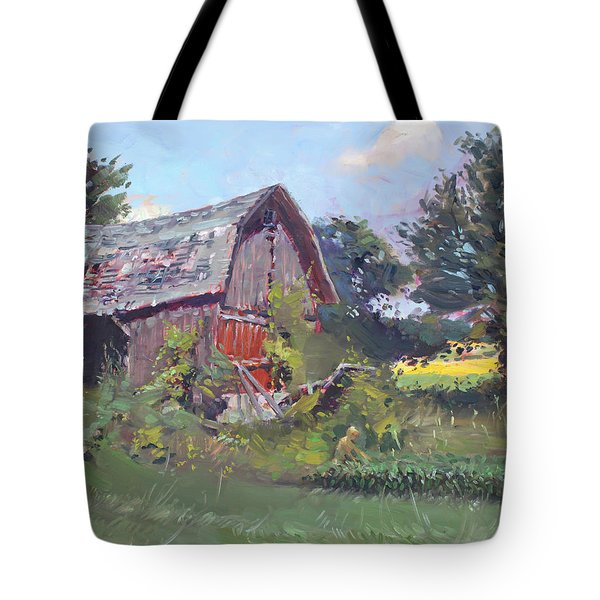 Old Barns  Tote Bag by Ylli Haruni