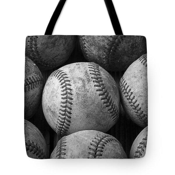 Old Baseballs Tote Bag by Garry Gay