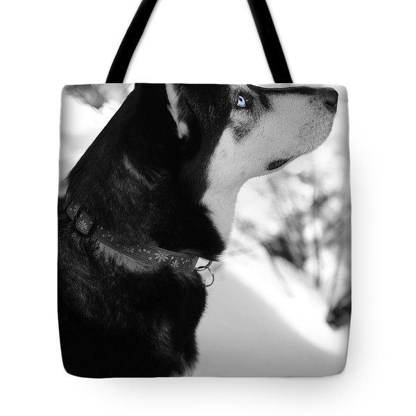 Old Blue Eye Tote Bag by Carol Groenen
