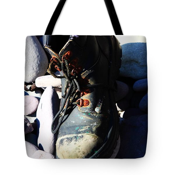 Old Booth - Seaside Abstract Tote Bag by Aidan Moran