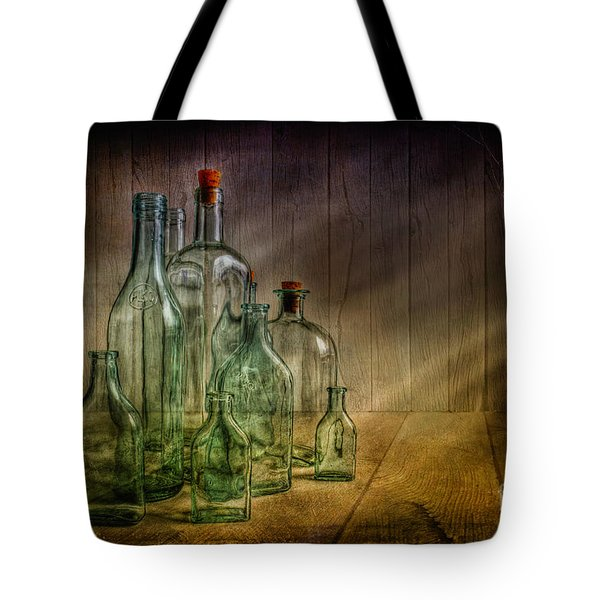 Old Bottles Tote Bag by Veikko Suikkanen