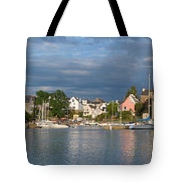 Old Bridge Over The Sea, Le Bono, Gulf Tote Bag by Panoramic Images