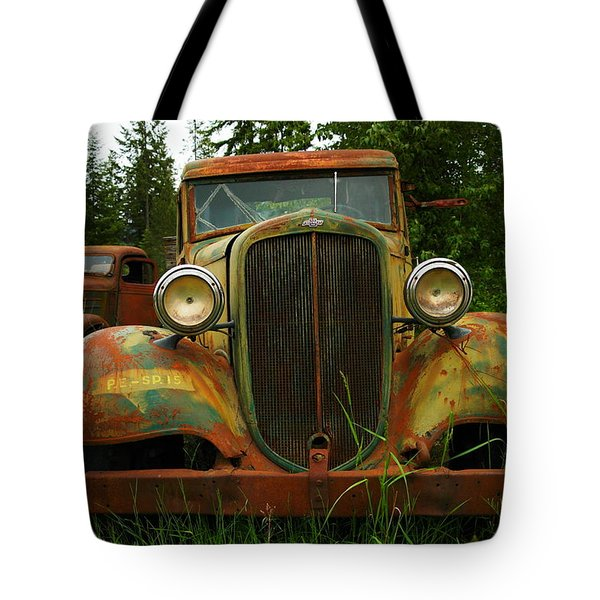 Old Cars Left To Decorate The Weeds Tote Bag by Jeff Swan