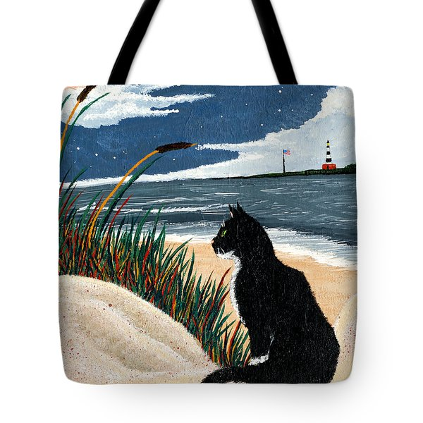 Old Cat And The Sea Tote Bag by Edward Fuller