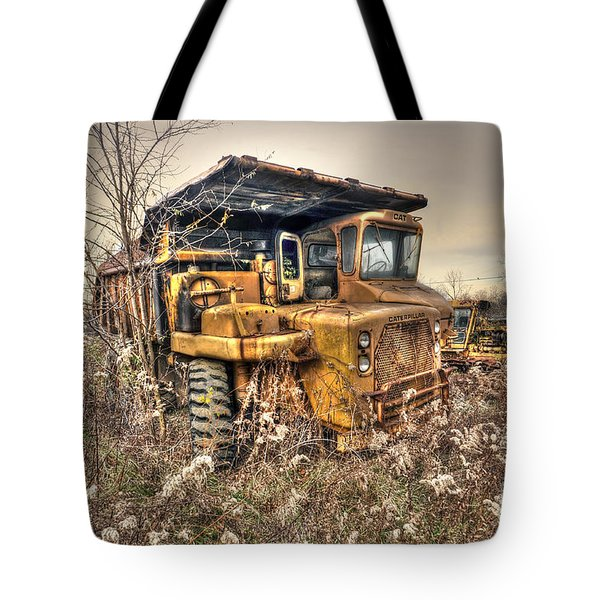 Old Construction Truck Tote Bag by Dan Friend